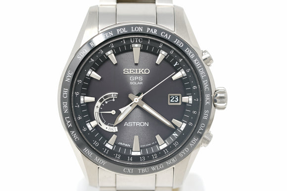 Pre-Owned Seiko Astron GPS Solar World Time SSE085