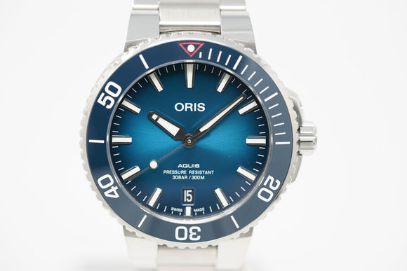 Pre-Owned Oris Aquis Clean Ocean Limited Edition 01 733 7732 4185-Set