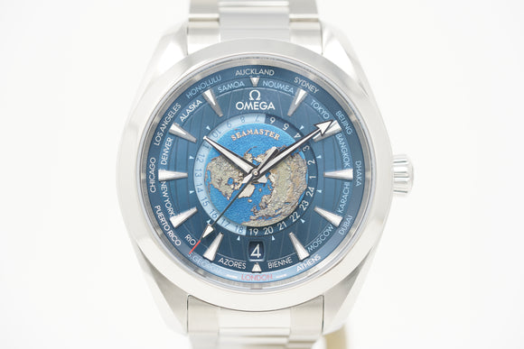 Omega Seamaster Aqua Terra Worldtimer GMT Co-Axial Master Chronometer 220.10.43.22.03.001