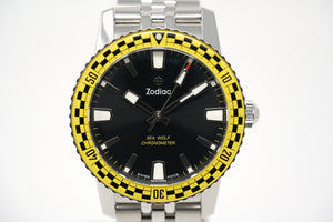 "Zodiac Sea Wolf Topper Limited Edition ""Rally"" (Yellow) ZO9272 with Strap & Bracelet"