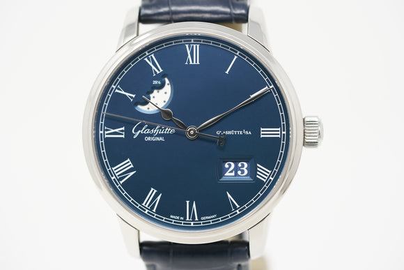 Glashütte Original Senator Panorama Date Moonphase 100-04-05-12-30 with Extra Strap