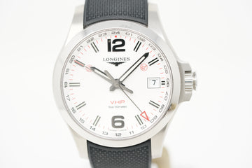 Longines Conquest V.H.P. GMT L3.718.4.76.9 with Extra Strap