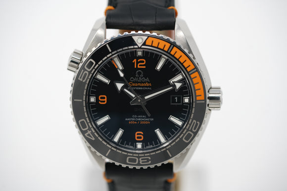 Omega Seamaster Planet Ocean Co-Axial Master Chronometer 215.32.44.21.01.001 with Strap and Bracelet