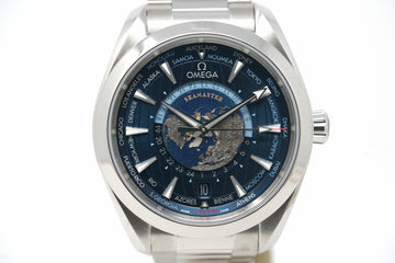Pre-Owned Omega Aqua Terra GMT Worldtimer 220.10.43.22.03.001