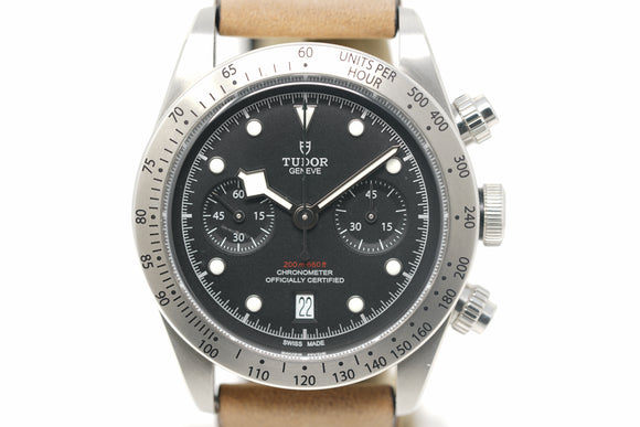 Pre-Owned Tudor Heritage Black Bay Chronograph M79350-0002