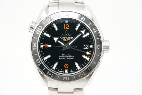 Omega Seamaster Planet Ocean Co-Axial GMT 232.30.44.22.01.002 with Strap & Bracelet