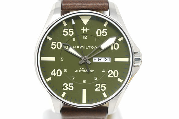 Pre-Owned Hamilton Khaki Aviation Pilot Schott NYC Limited H64735561