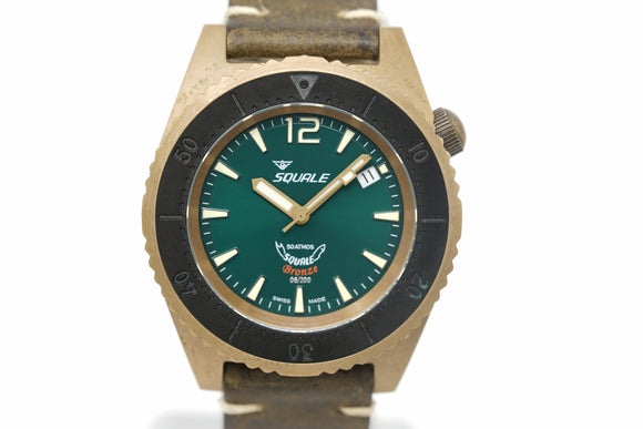 Pre-Owned Squale 50 atmos 1521 Bronze Green