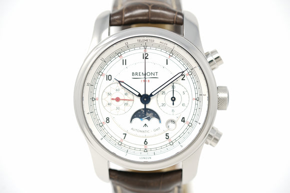 Bremont 1918 Stainless Steel Limited Edition GMT Chronograph with Extra Strap