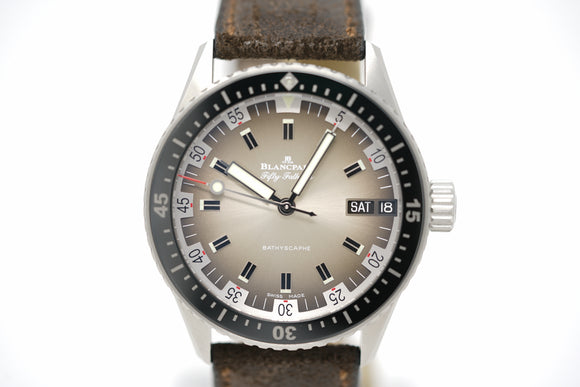 Pre-Owned Blancpain Bathyscaphe 70's Day Date Limited 5052 1110 63A