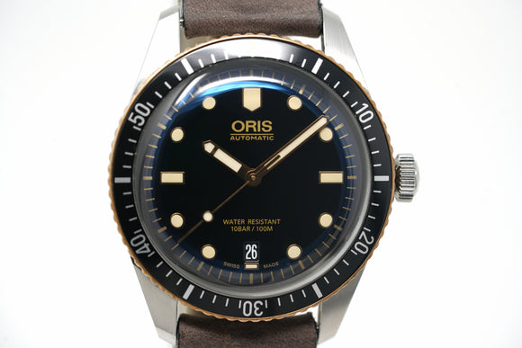 Pre-Owned Oris Divers Sixty-Five 01 733 7707 4354