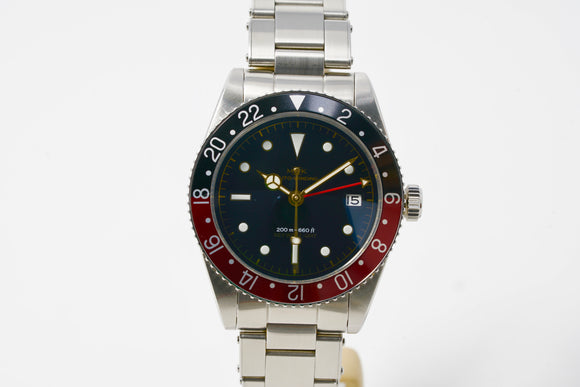 MKII Key West Coke Bezel GMT Watch with Two Extra Straps