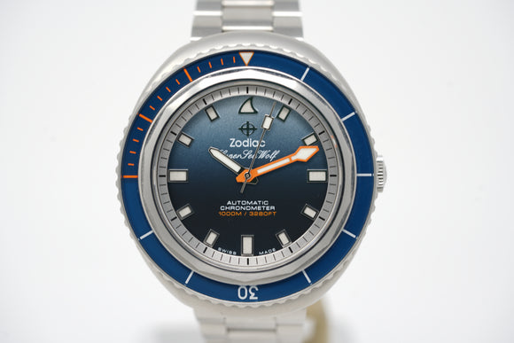 Zodiac Super Sea Wolf 68 Saturation x Andy Mann Limited Edition ZO9508 with Two Extra Straps