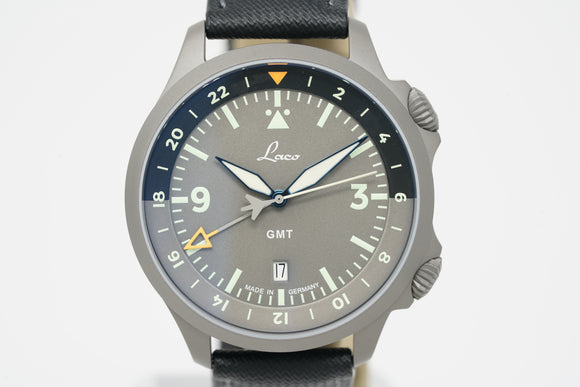 Laco Frankfurt GMT Grau 862121 with Three Extra Straps