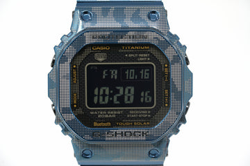 Pre-Owned G-Shock Full Metal Limited Blue Camo GMWB5000TCF-2