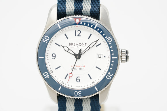 Bremont Supermarine S300 White with Extra Strap