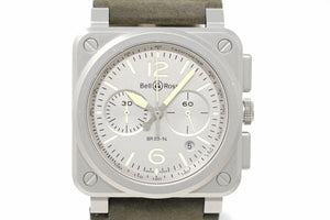 Pre-Owned Bell & Ross Horolum BR0394-GR-ST/SCA