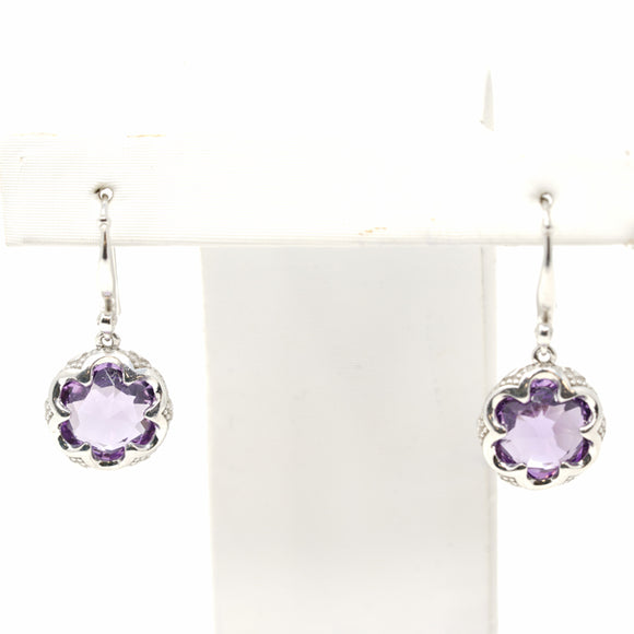 Tacori Jewelry Silver with Amethyst Simply Gem Drop Earrings