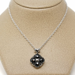 Tacori Jewelry Silver with Black Onyx Art Deco Pendant