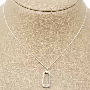 Hindi and Randee Fisher oval pendant in silver