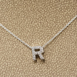 Roberto Coin 18 Karat White Gold Tiny Treasures Initial Pendants With Diamonds