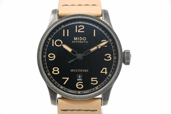 Pre-Owned Mido Multifort Escape Horween Edition M032.607.36.050.99