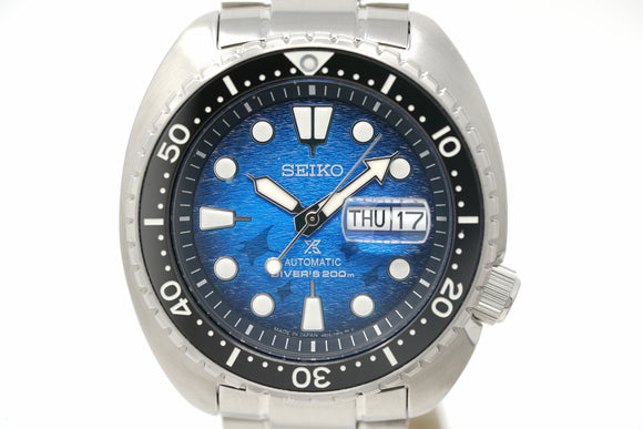 Pre-Owned Seiko Prospex King Turtle Save the Ocean 'Manta Ray' SRPE39