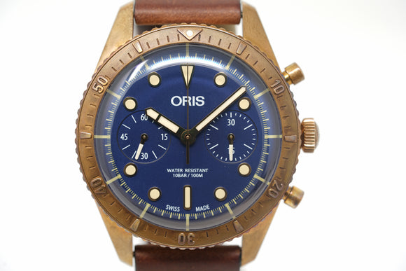 Pre-Owned Oris Carl Brashear Chrono Limited 01 771 7744 3185-Set LS