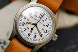 Hamilton Khaki Field Mechanical White Dial Brown Leather NATO Strap H69439511