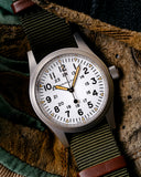 Hamilton Khaki Field Mechanical White Dial Green Textile NATO Strap H69439411