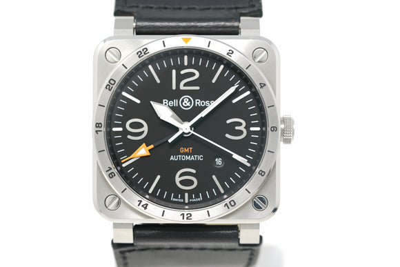 Pre-Owned Bell & Ross GMT BR0393-GMT-ST/SCA