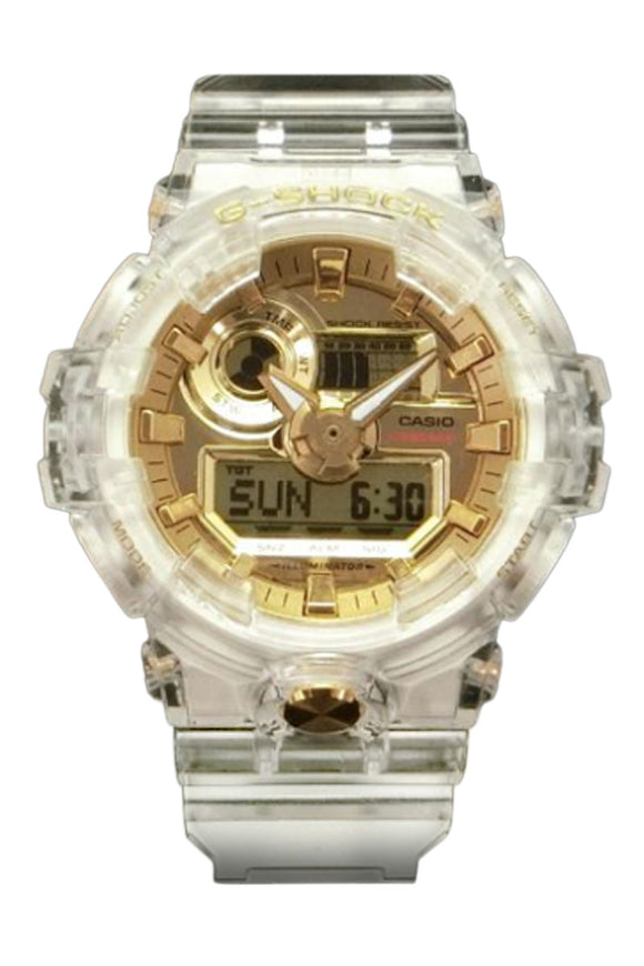 G-Shock 35th Anniversary: Skeleton Gold GA735E-7A