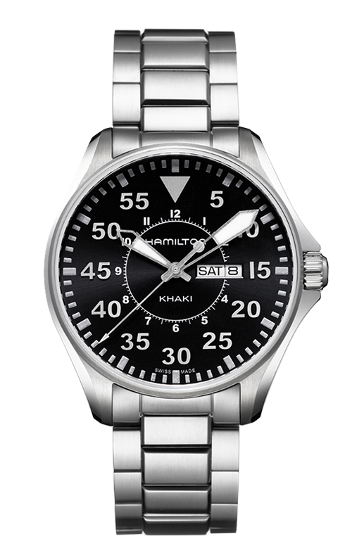 Hamilton Khaki Aviation Pilot Day Date Quartz H64611135