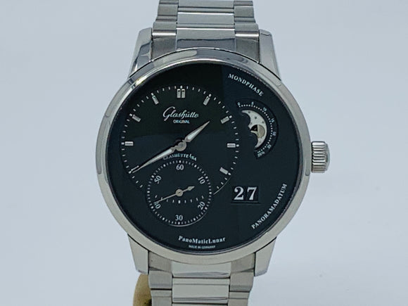 Glashutte Original Panomaticlunar Gray Dial Moonphase Watch