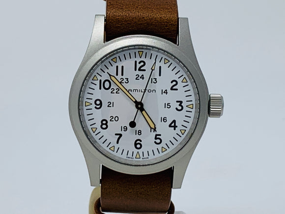 Hamilton Khaki Field Mechanical White Dial Watch H69439511