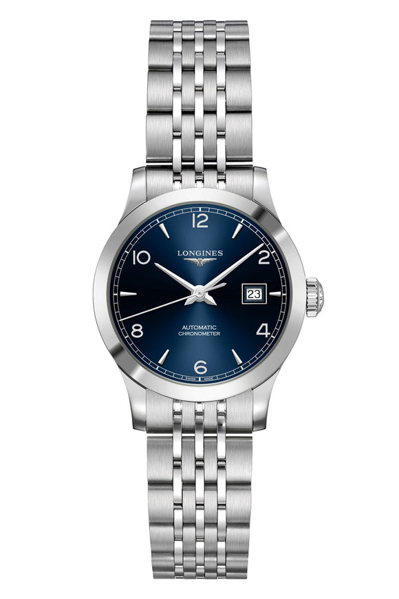 Longines Record Blue 30mm Automatic Chronometer L2.321.4.96.6