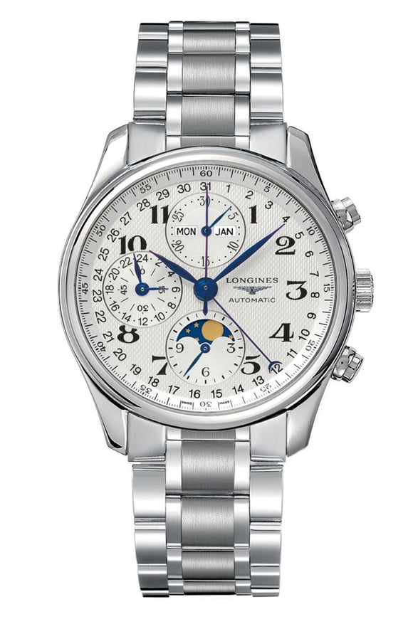 Longines Master Collection 40mm Chronograph with Moon Phase L2.673.4.78.6