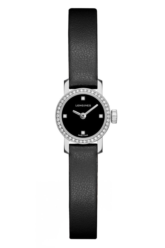 Longines Mini Black Dial Diamond Ladies L3.203.05.7.2
