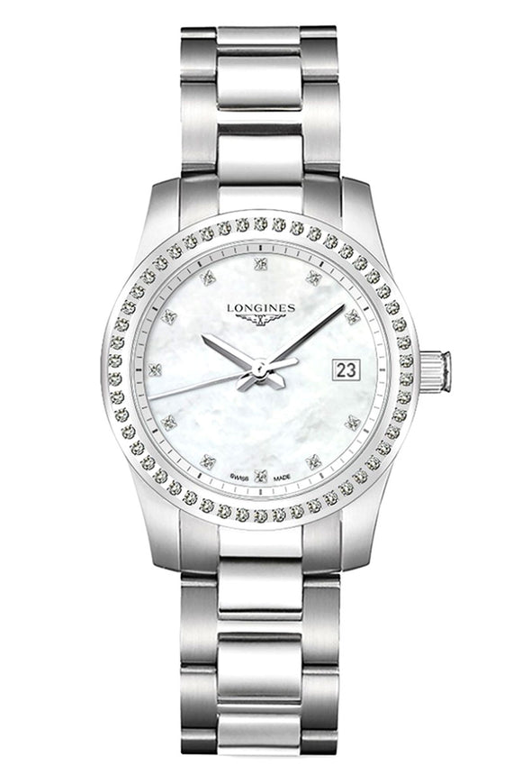 Longines Conquest Mother of Pearl Diamond Ladies L3.300.0.87.6