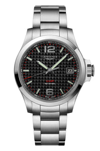 Longines Conquest V.H.P 41mm Carbon Fiber Dial L3.716.4.66.6