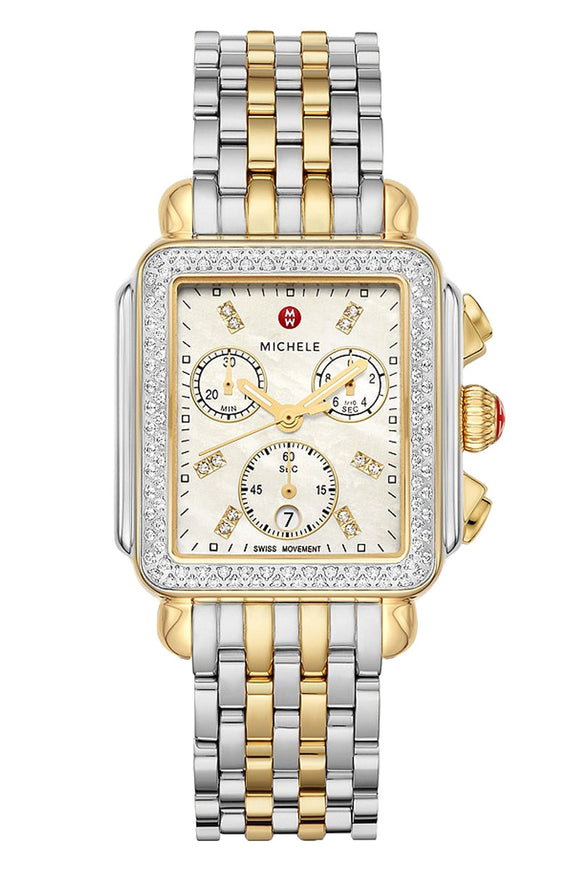 Michele Deco Two-Tone 18k Gold Diamond MWW06A000776