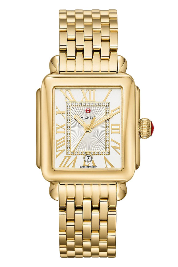 Michele Deco Madison Gold Diamond Dial MWW06T000171