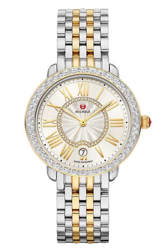 Michele Serein Mid Two-Tone 18K Gold Diamond MWW21B000138