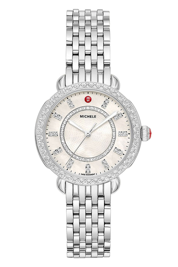 Michele Sidney Classic Stainless Steel Diamond MWW30B000001