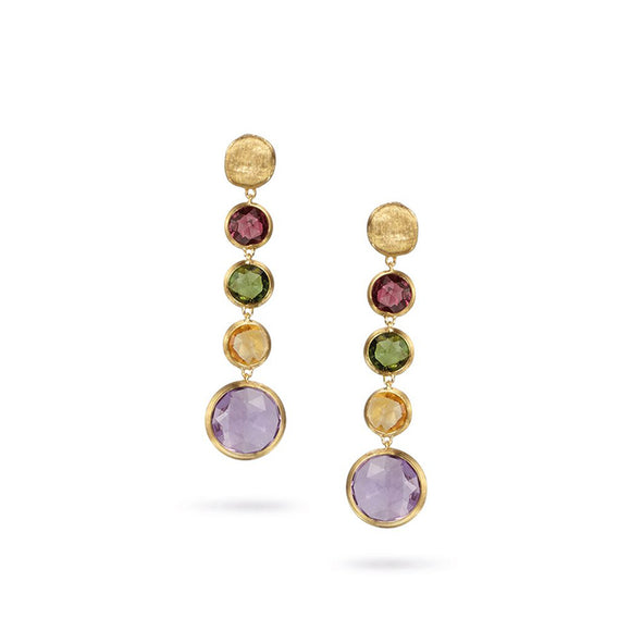 Marco Bicego Jaipur Color Yellow Gold Earrings OB901-MIX01