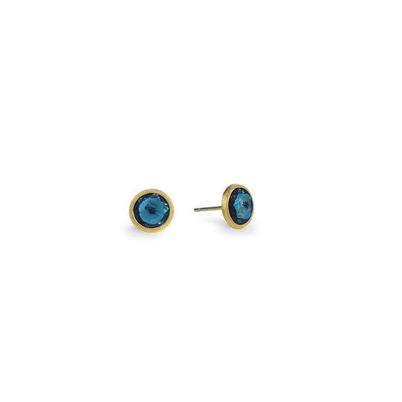 Marco Bicego Jaipur & London Blue Topaz Stud Earrings OB957-TPL01-Y