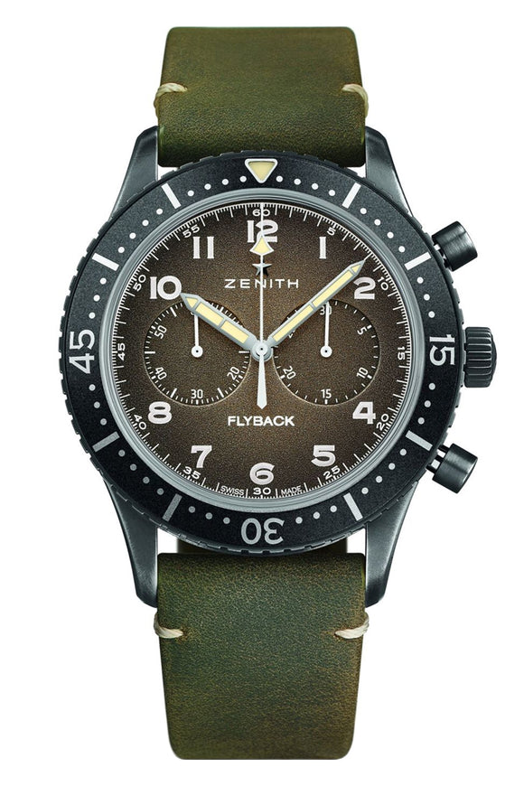 Zenith Pilot Cronometro Tipo CP-2 Flyback Slate Grey Grained
