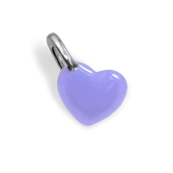 Lavender Enamel Mini Heart