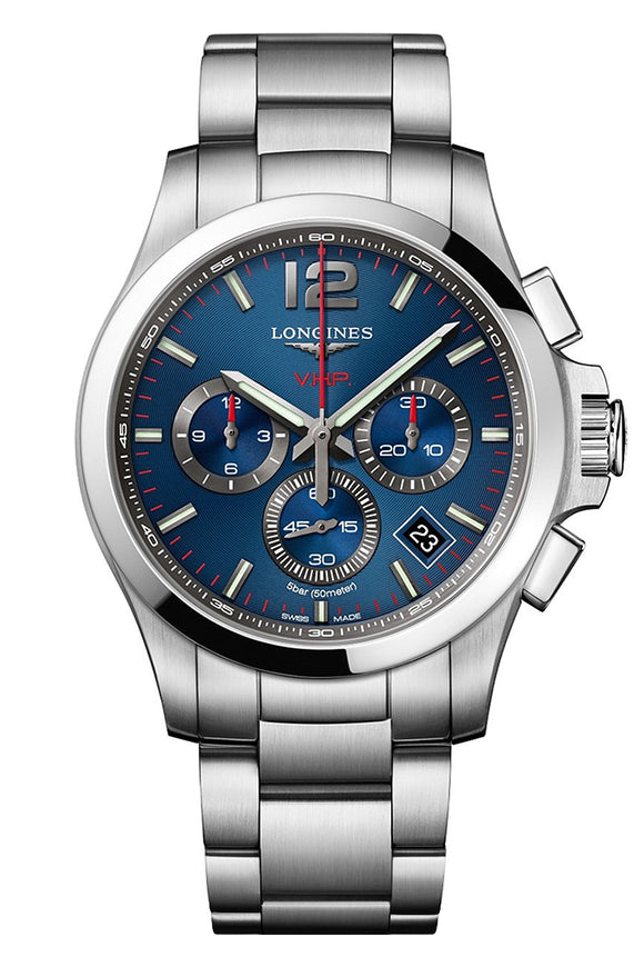 Longines Conquest V.H.P. Chronograph Blue Stainless Steel (Deposit)