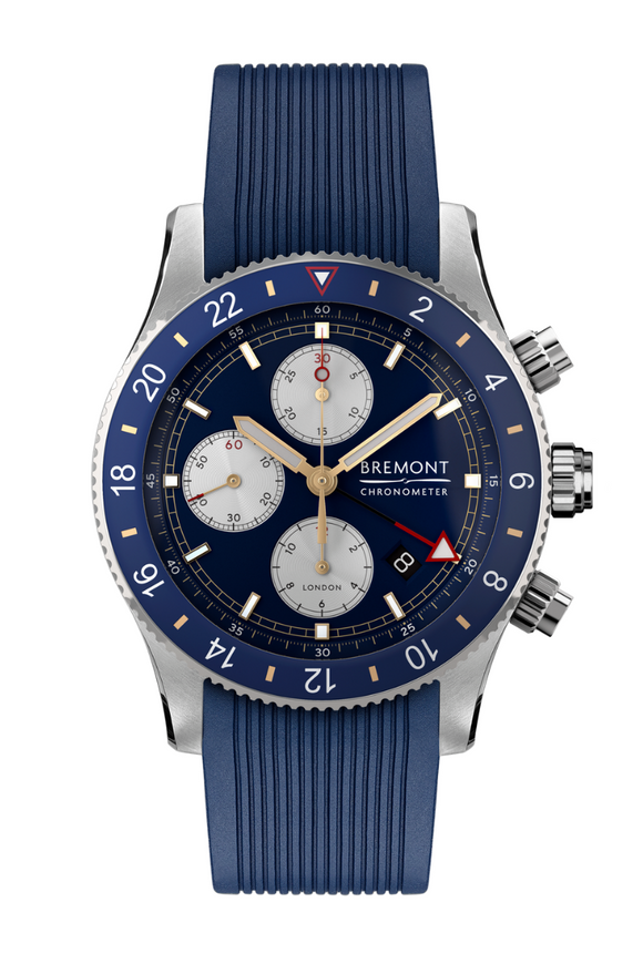Bremont Supermarine Chrono GMT Blue Rubber